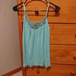 Candie's light blue tank top